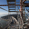 The view of San Franciso from the scaffold stairs.