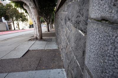 Orhiginal rock fense for the Stanford mansion.