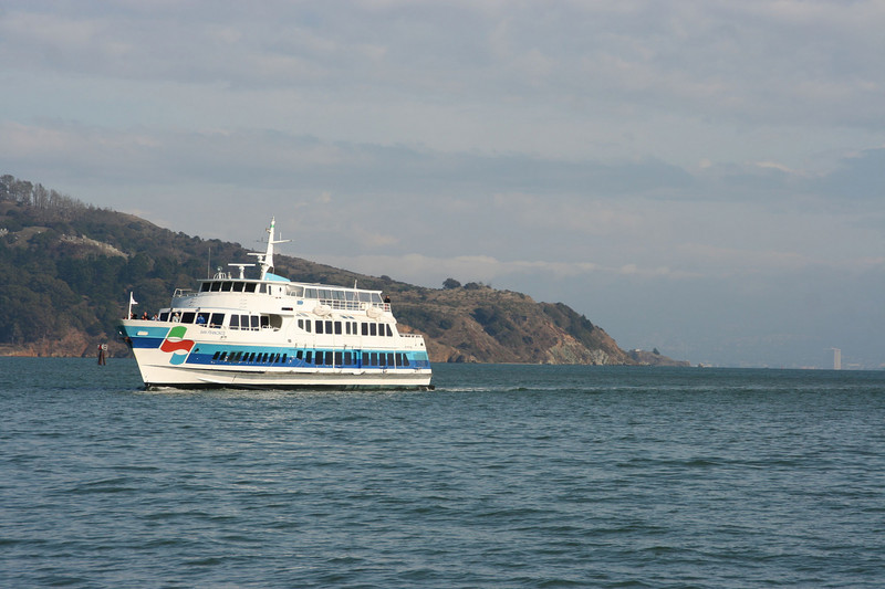 The ferry that runs between San Francisco and Sausalito