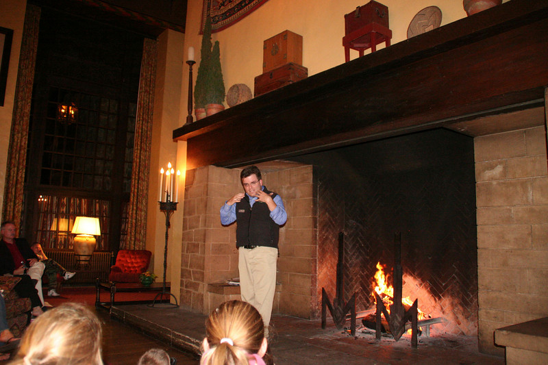 Story time at the Ahwahnee