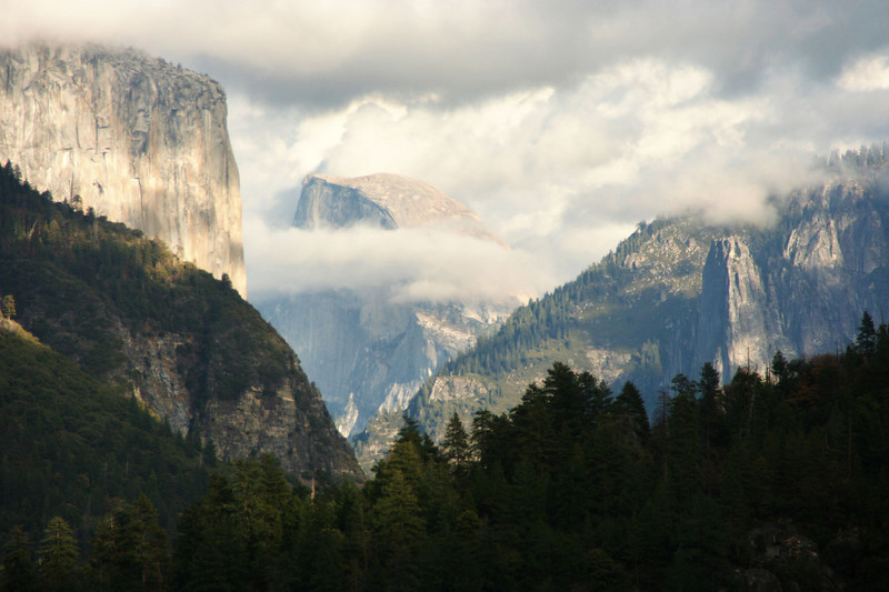 First view of Half Dome and El Capitan
