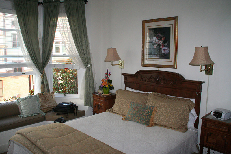 Our quarters, Washington Square Inn, we have our own bay windows.  We love this hotel.
