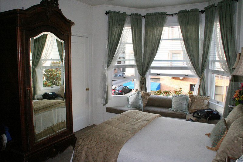 Our quarters, Washington Square Inn, we have our own bay windows