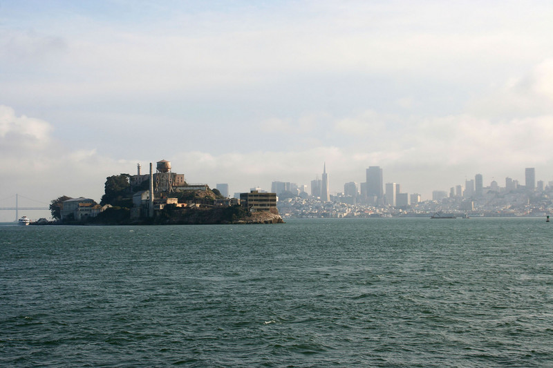 The ferry slowed down and made a close pass of Alcatraz