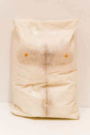 "SFMOMA, Robert Gober, ""Untitled"", beeswax, pigment and human hair, 1990"