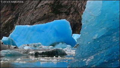 """CALVING 2"",Shakes glacier,Alaska,USA."