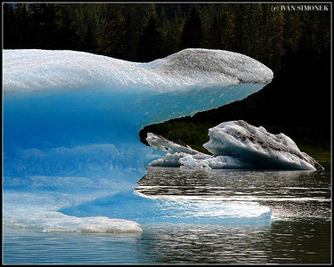 """ICE SHARK"",Shakes lake, Alaska, USA."