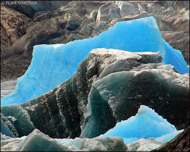 """CALVING 3"",Shakes glacier,Alaska,USA."