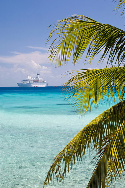 MV Discovery at Fiji Islands, Pacific Ocean.