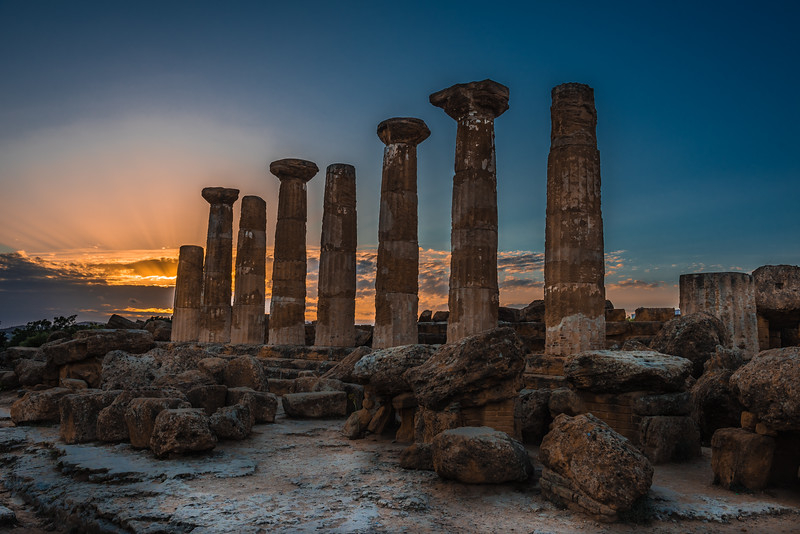 VALLEY OF TEMPLES SUNSET