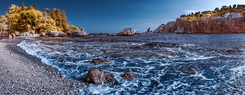 SICILIAN SEASCAPE IN COLOR INFRARED