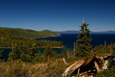 Lake Tahoe above Emerald Bay entrance