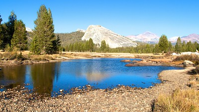 Lembert Dome from Tuolumne Meadows Yosemite