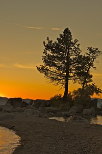 Sunset Lake Tahoe