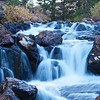 High Sierra waterfall in late fall