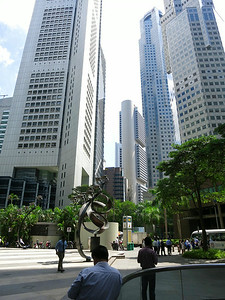 In the center background is the 52-story OCBC Centre by I.M. Pei, 1976