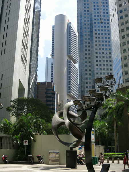 The 52-story OCBC Centre by I.M. Pei, 1976.
