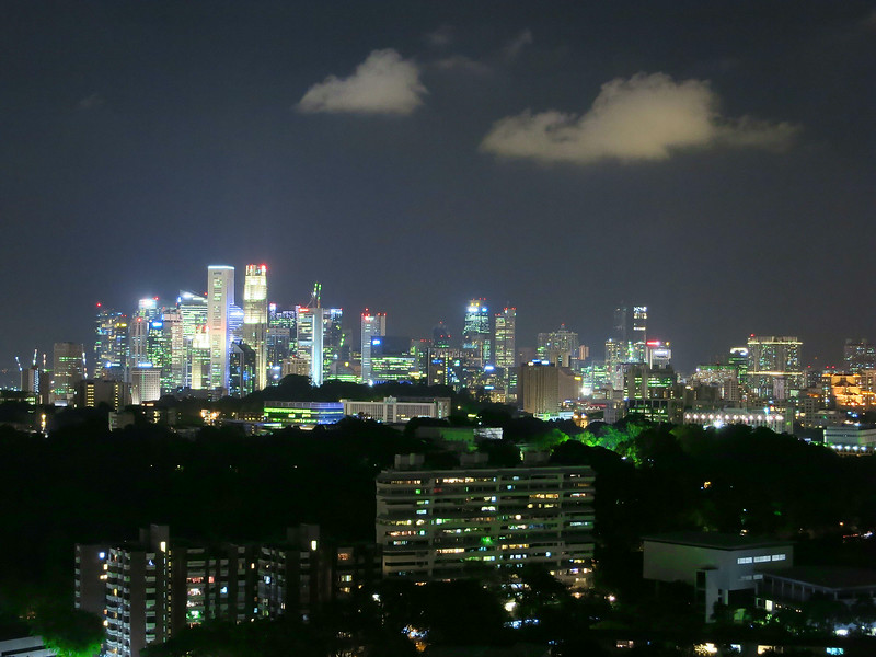 Singapore skyline from Atlas condo, June 4 at 8:22 pm.