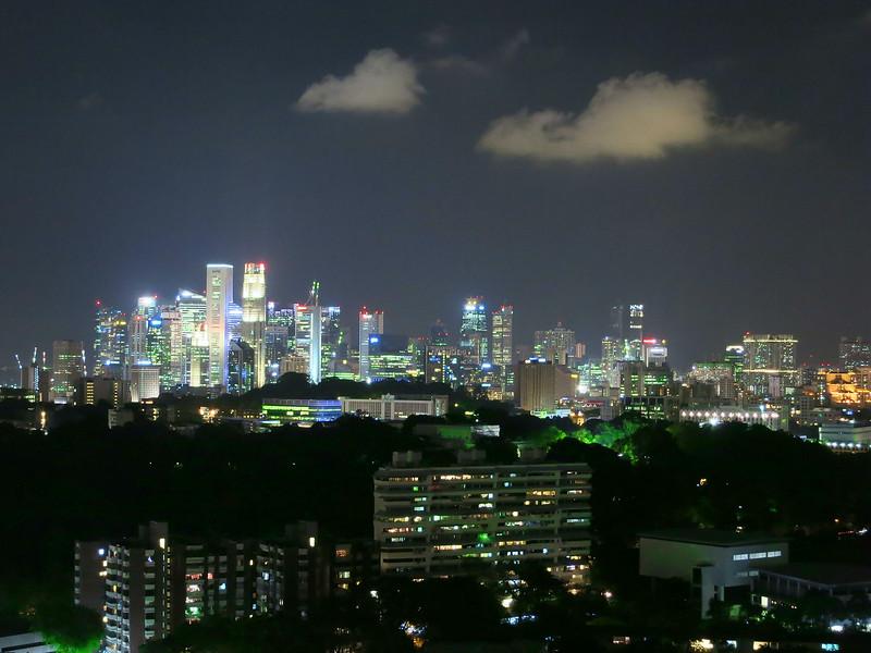 Singapore skyline from Atlas condo, June 4 at 8:22 pm.