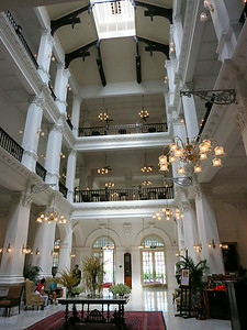 Raffles Hotel lobby, going out