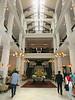 Raffles Hotel lobby, coming in
