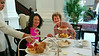 Aliza and Marian at High Tea, Raffles Hotel