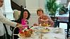 Aliza and Marian at High Tea, Raffles Hotel