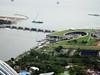 Marina Barrage from Skydeck bar atop Marina Bay Sands.