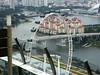 Ferris Wheel and housing from Ku dé Ta bar atop Marina Bay Sands.