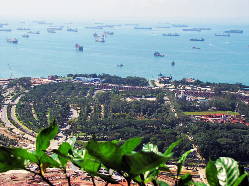 Ships anchored in Singapore port