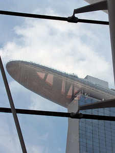 SkyPark atop Marina Bay Sands Hotel—observation deck with 360-degree views of city's harbor and skyline.