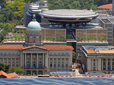 Old Supreme Court Building (left) and City hall (right) from SkyPark