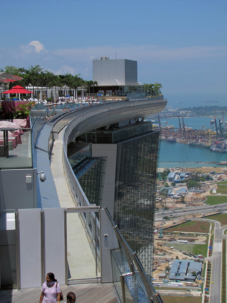 SkyPark and infinity pool (upper left)