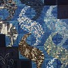 Quilt made from recycled, indigo-dyed fabrics.
