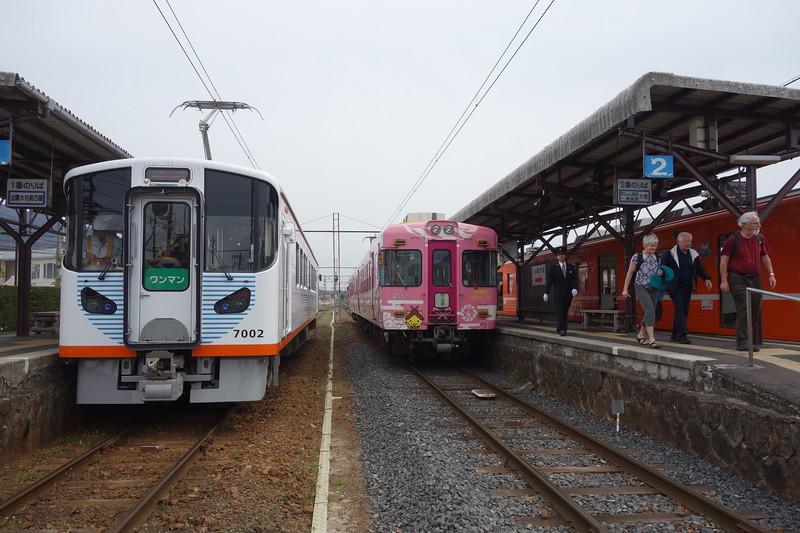 Arriving at Izumo Taisha station