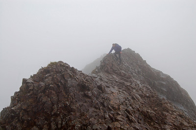 On Crib Goch, the Snowdon Horseshoe