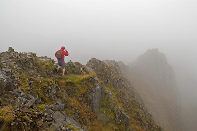On Crib Goch, Snowdon Horseshoe, North Wales