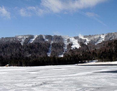 Snowshoe Mountain Resort (WV) -- Ski area from Shavers Lake