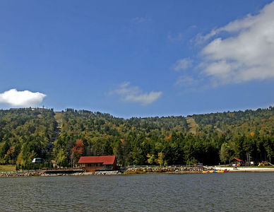Snowshoe Mountain Resort (WV) -- Shaver's Lake and the Boat House Restaurant