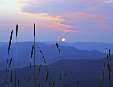 Snowshoe Mountain Resort (WV) -- Cupp Runn sunset
