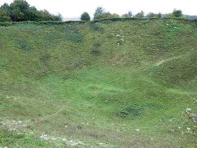 Lochnager Mine Crater.