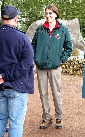 A Canadian Student acting as guide at Newfoundland Park.