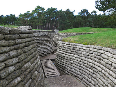 Preserved German front line trench Vimy Ridge.