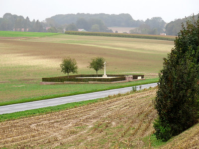 Gordon Cemetery, Mametz. Contains 99 men of 7th Division and 2nd Gordan Highlanders all killed on the 1st July 1916.