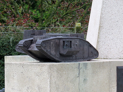 A model on the Tank Corps Memorial.