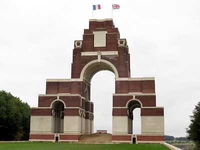 Thiepval Memorial to the missing of the Battle of the Somme.