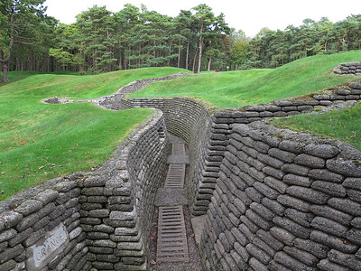 Preserved front line trench Vimy Ridge.