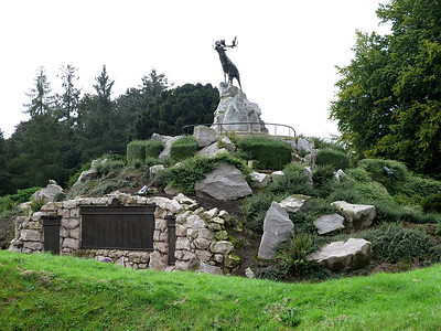 The grieving Newfoundland Caribou memorial.