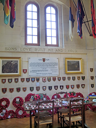 Memorial room inside Ulster Tower.