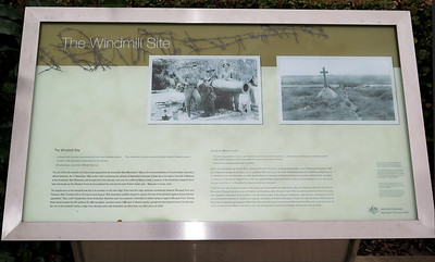 Information board at the Windmill Site.